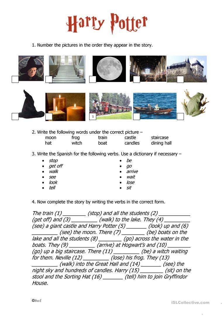 Harry Potter Past Tense Worksheet - Free Esl Printable Worksheets | Harry Potter Printable Worksheets