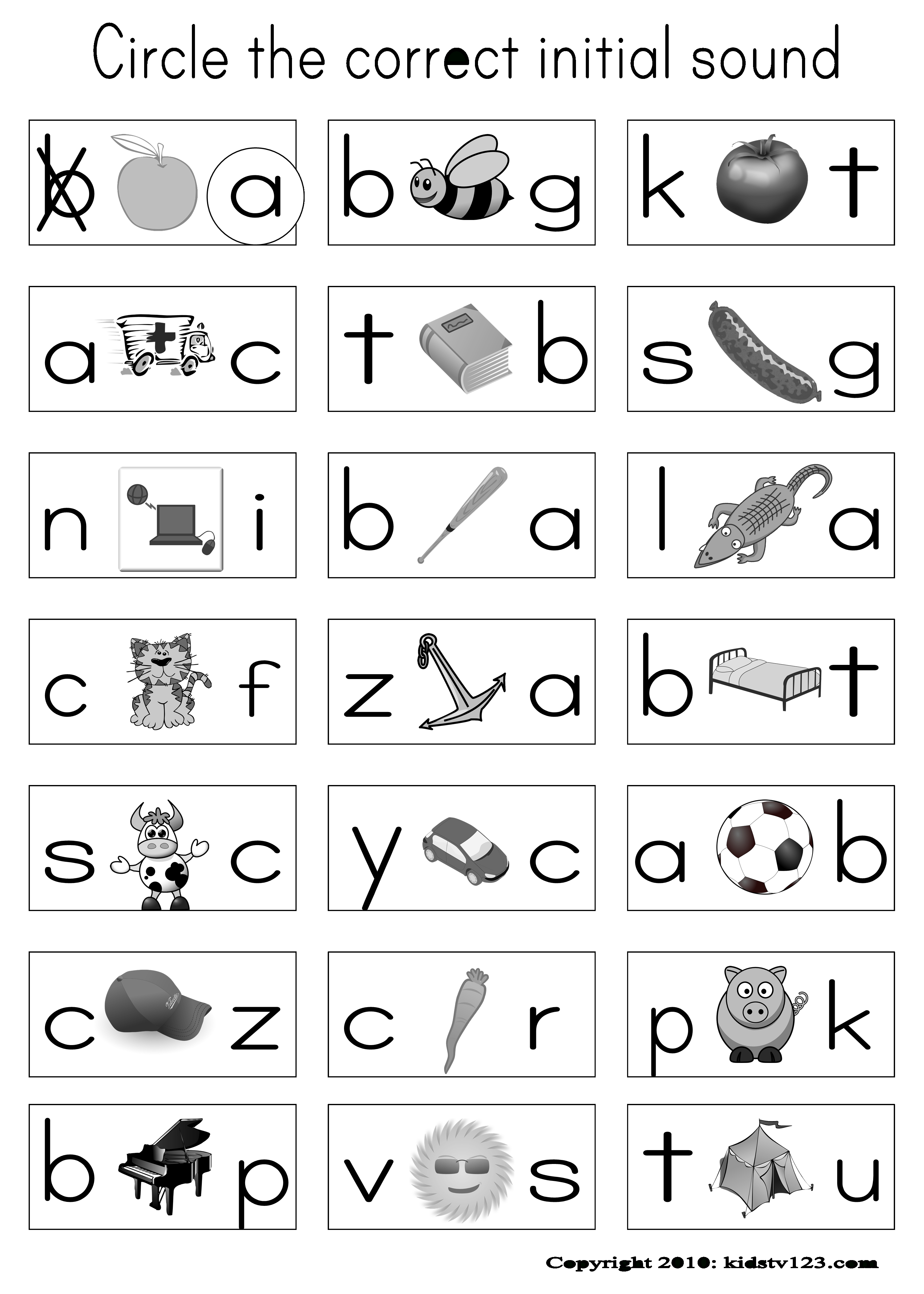 Have Pictures On Their Sheet And When I Say The Word In Spanish | Printable Beginning Sounds Worksheets