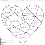 Heartbreak Words Free Printable Worksheet | Education   February | Free Printable Valentine Math Worksheets