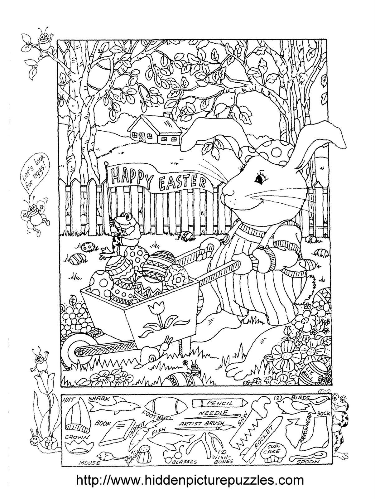 Hidden Pictures Publishing: Easter Hidden Picture Puzzle And | Free Printable Find The Hidden Objects Worksheets