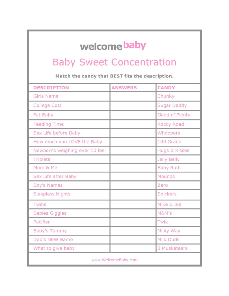 High Quality Free Baby Shower Games Printouts - Ideas House Generation | Free Baby Shower Games Printable Worksheets