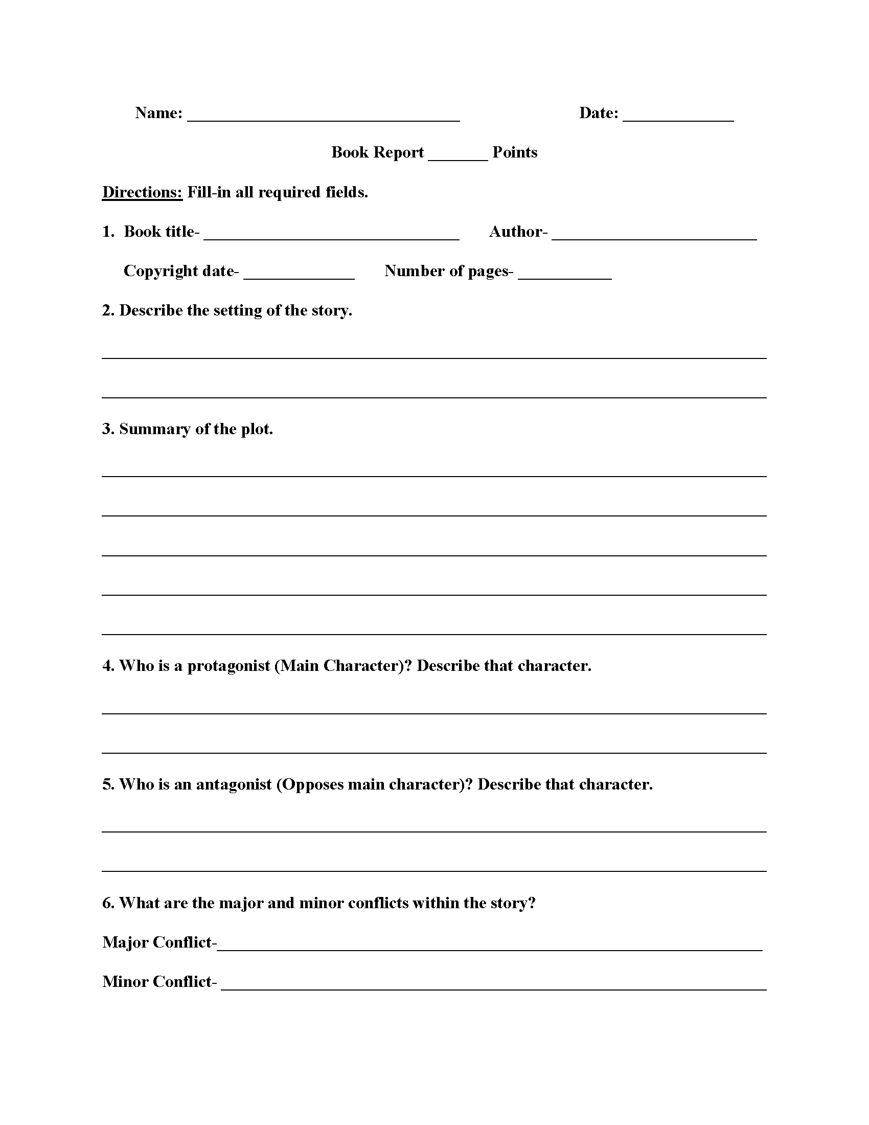 High School Book Report Worksheets | Education | High School Books | Printable Grammar Worksheets For Middle School