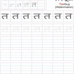 Hindi Alphabet Practice Worksheet   Letter त | Hindi Writing Worksheets Printable