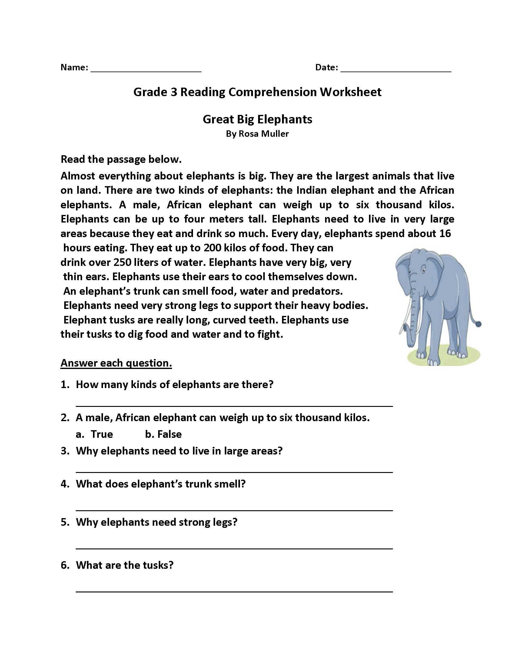 Homework Sheets Grade 3 Reading | Learning Printable | Reading | Printable Comprehension Worksheets For Grade 3