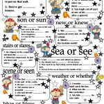 Homophones Worksheet – Free Esl Printable Worksheets Made | Printable Worksheets Esl Students