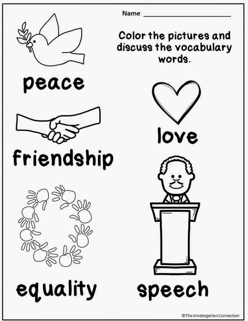 Honoring Martin Luther King, Jr (And A Freebie!) - The Kindergarten | Free Printable Martin Luther King Worksheets For Kindergarten