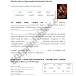 Hunger Games: Catching Fire   Esl Worksheetanabelita | Hunger Games Free Printable Worksheets