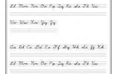 Printable Cursive Writing Worksheets