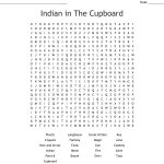 Indian In The Cupboard Word Search   Wordmint | Indian In The Cupboard Free Printable Worksheets