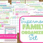 Instant Download Mom Planners  Home Organization Printables 30 | Free Printable Home Organization Worksheets