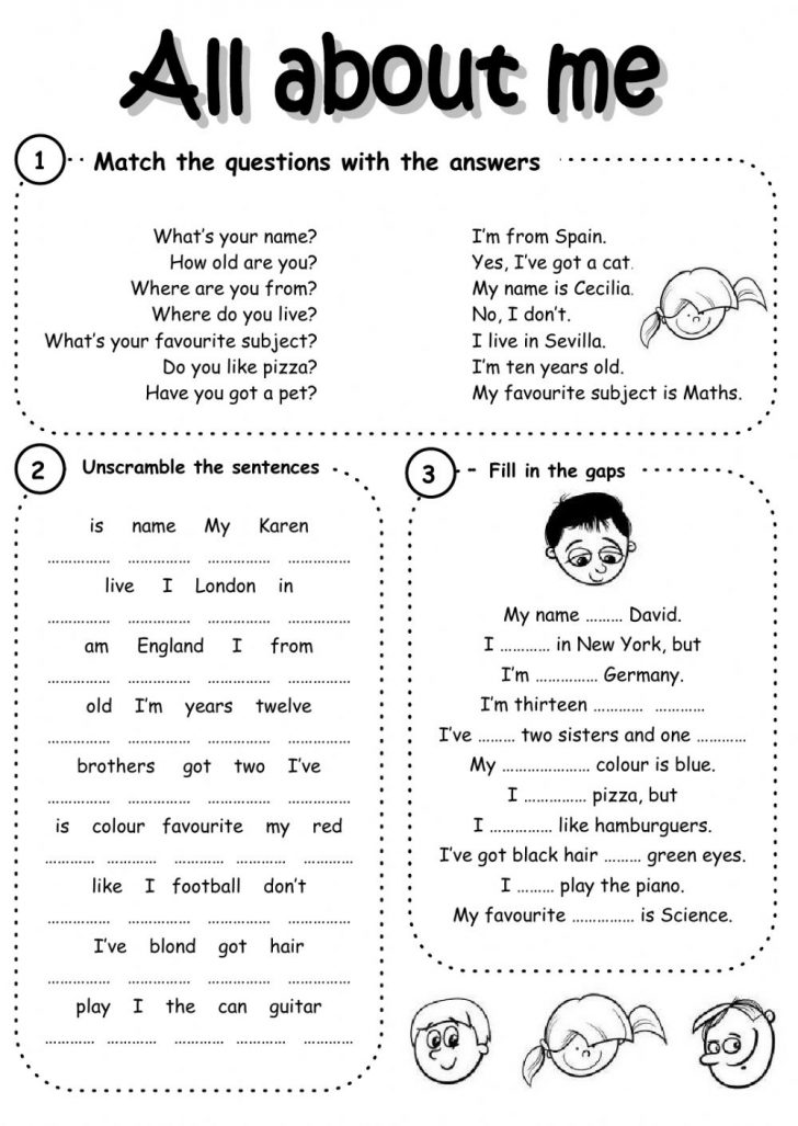 Introduce Yourself Printable Worksheets