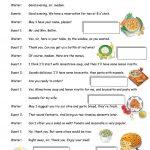 Italian Restaurant Worksheet   Free Esl Printable Worksheets Made | Italian Worksheets For Beginners Printable