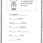 Je Me Presente. Easy Worksheets For Young And Beginning Learners Of | Free Printable French Worksheets For Grade 1
