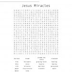 Jesus Miracles Word Search   Wordmint | Printable Worksheets Miracles Jesus