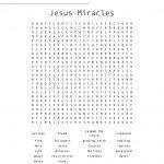 Jesus Miracles Word Search   Wordmint   Printable Worksheets Miracles Jesus