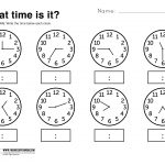 Kids : 1000 Ideas About Free Printable Worksheets On Pinterest | Free Printable Telling Time Worksheets For 1St Grade