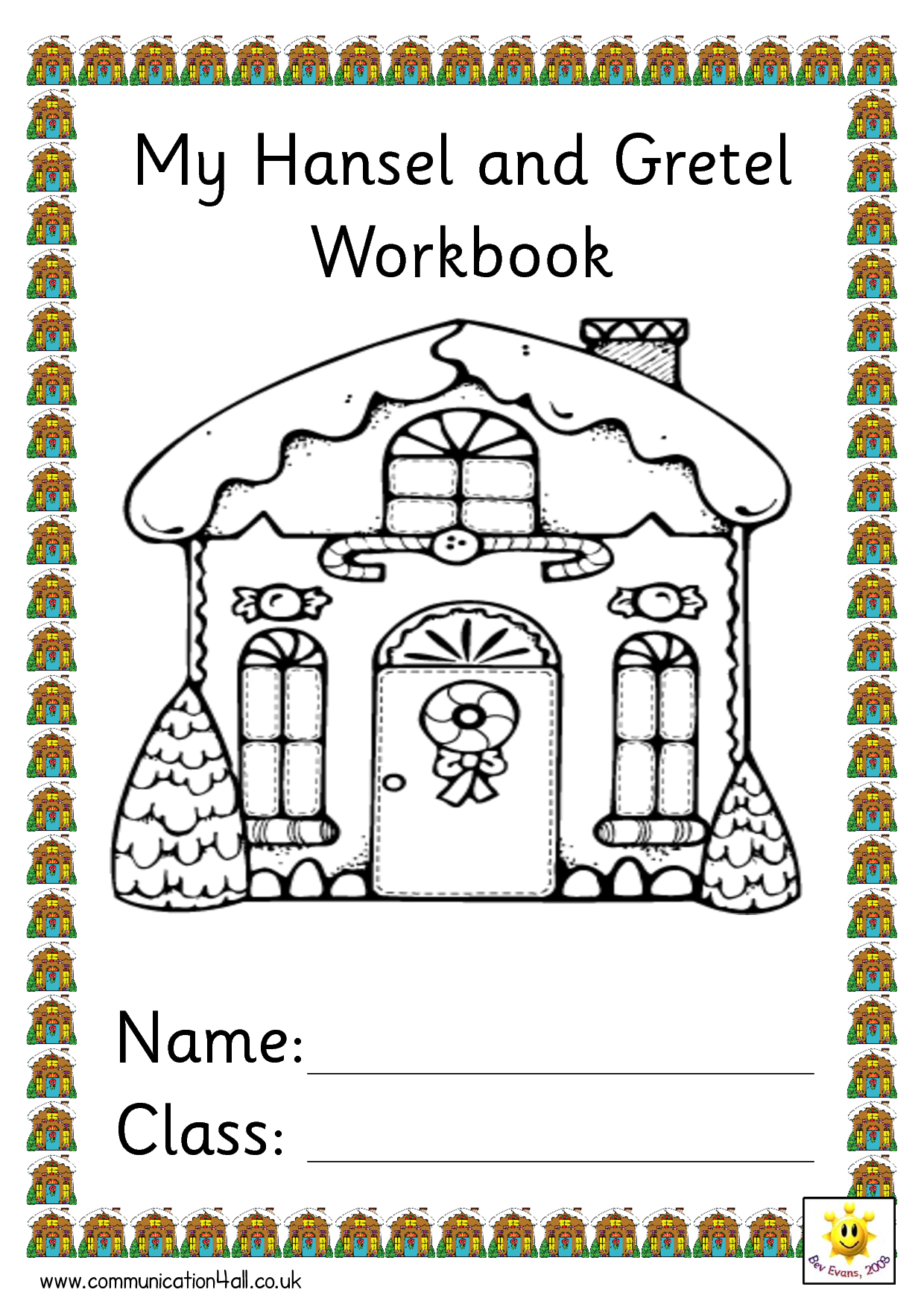 Kids Can Color The Page For The Hansel And Gretel Tree | Children's | Hansel And Gretel Printable Worksheets
