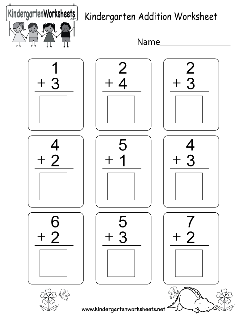 Kindergarten Addition Worksheet - Free Math Worksheet For Kids | Free Printable Preschool Addition Worksheets