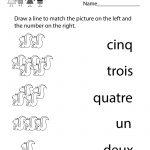 Kindergarten French Numbers Worksheet Printable | Français Pour Les | Free Printable French Worksheets For Grade 4