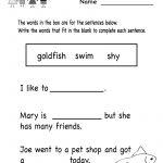 Kindergarten Grammar Worksheet For Kids Printable | Teaching | Kindergarten Ela Printable Worksheets