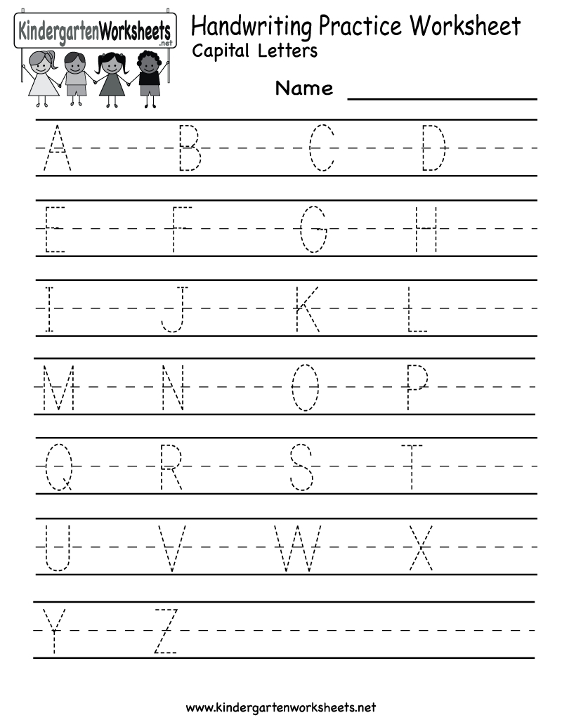 Kindergarten Handwriting Practice Worksheet Printable | Fun For Kids | Free Printable Writing Worksheets For Kindergarten