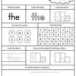 Kindergarten High Frequency Words Printable Worksheets | Dolch Words Worksheets Free Printable
