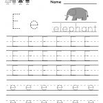 Kindergarten Letter E Writing Practice Worksheet Printable | Preschool Writing Worksheets Free Printable