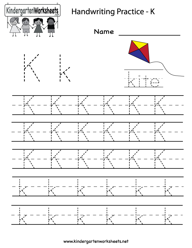 Kindergarten Letter K Writing Practice Worksheet Printable | Life | Letter K Worksheets Printable
