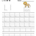 Kindergarten Letter L Writing Practice Worksheet Printable | Writing | Free Printable Letter L Tracing Worksheets