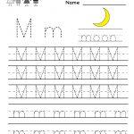 Kindergarten Letter M Writing Practice Worksheet Printable | Letter M Printable Worksheets