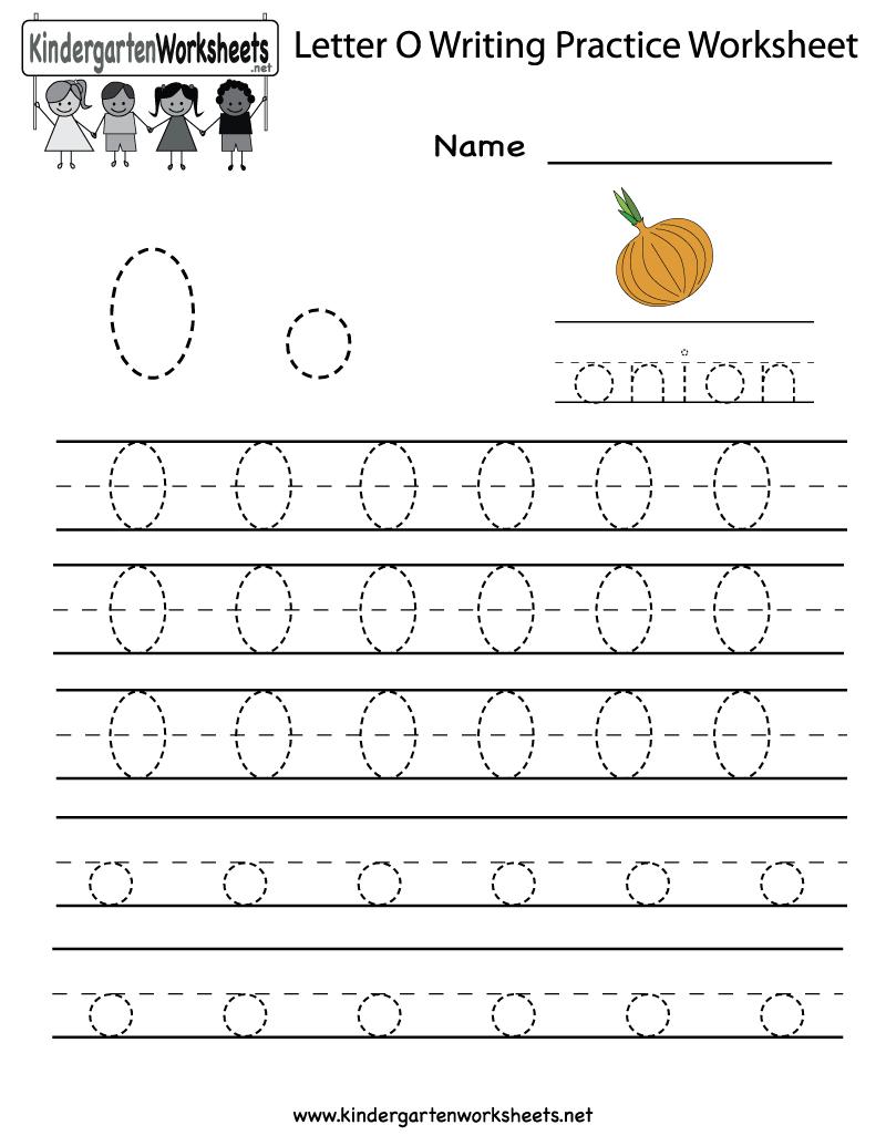 Kindergarten Letter O Writing Practice Worksheet Printable | Letter O Printable Worksheets