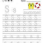Kindergarten Letter S Writing Practice Worksheet Printable | G | Free Printable Writing Worksheets For Kindergarten
