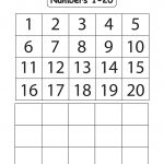 Kindergarten Number Worksheets 1 20 Worksheets Numbers 1 For   Free | Counting Worksheets 1 20 Printable