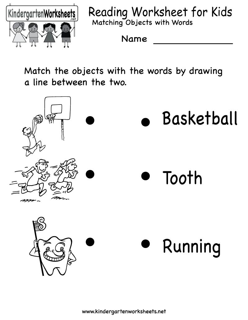 Kindergarten Reading Worksheet For Kids Printable | Worksheets | Free Printable English Reading Worksheets For Kindergarten