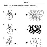 Kindergarten Spring Numbers Worksheet Printable | Spring Worksheets | Spring Printable Worksheets For Preschoolers