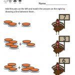 Kindergarten Thanksgiving Math Worksheet Printable | Thanksgiving | Printable Thanksgiving Math Worksheets