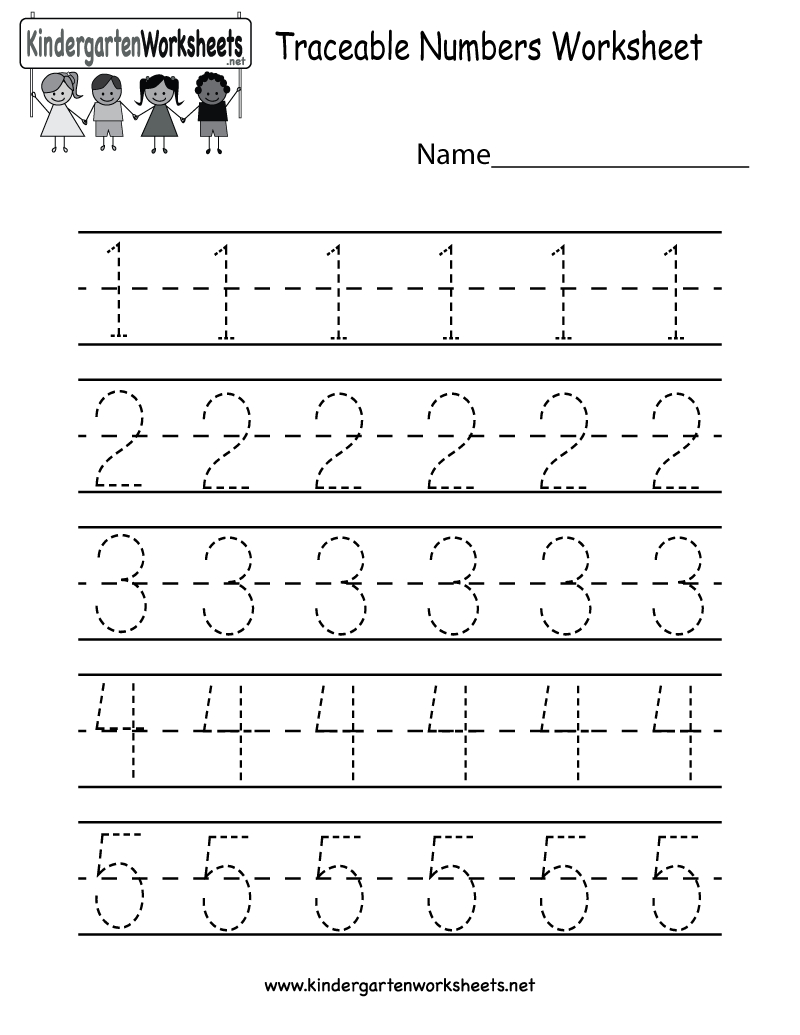 Kindergarten Traceable Numbers Worksheet Printable | Preschool | Numbers Printable Worksheets