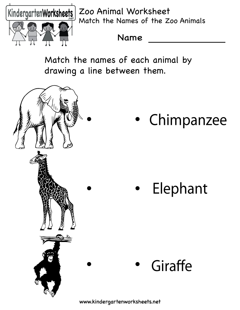Kindergarten Zoo Animal Worksheet Printable   Worksheets (Legacy   Free Printable Zoo Worksheets