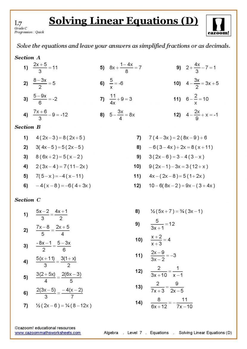 Ks3 Ks4 Maths Worksheets Printable With Answers Year 7 Math Pdf Al 5 | Ks3 Science Revision Worksheets Printable