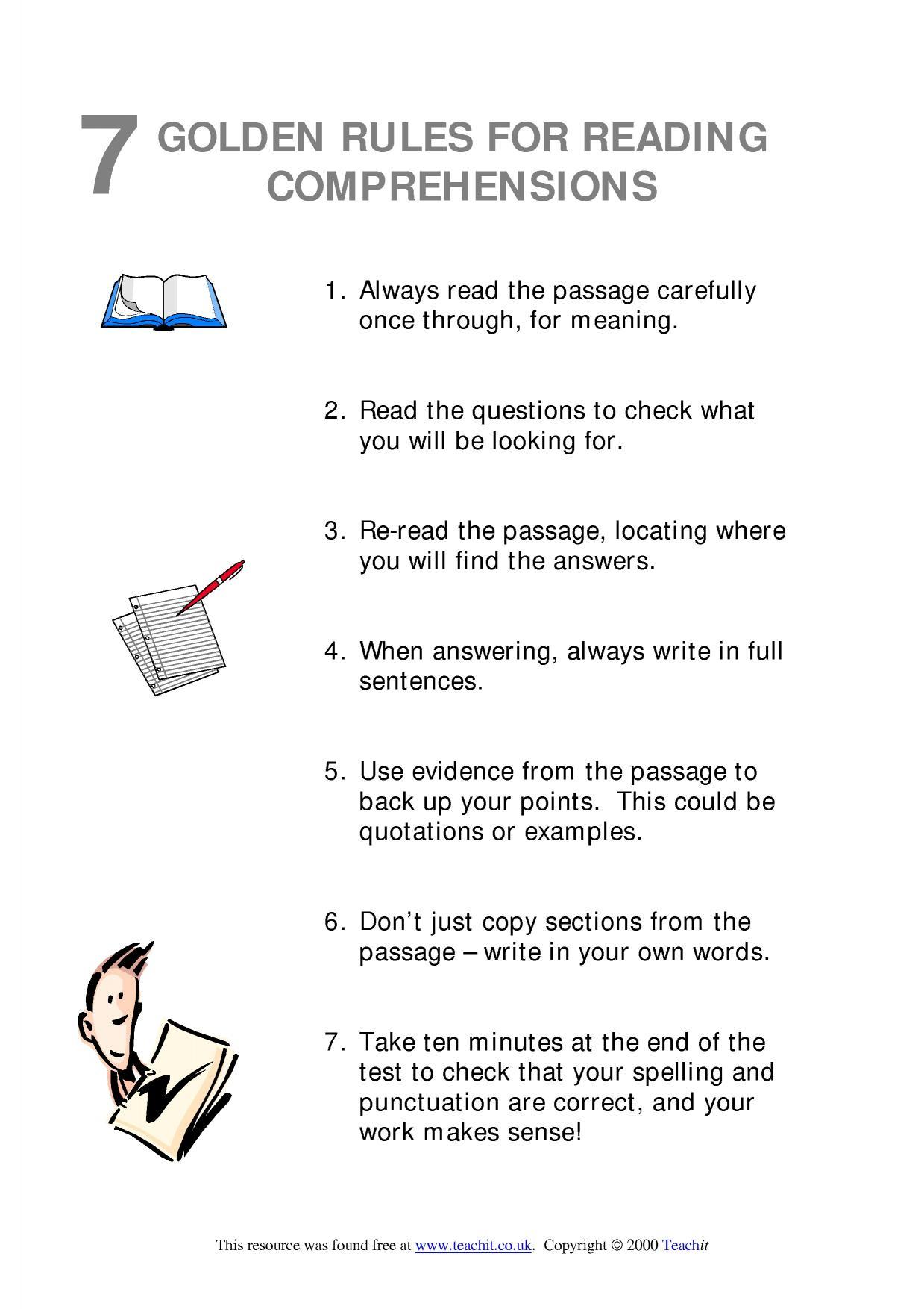 Ks3 Reading | Comprehension | Teachit English | Literacy Worksheets Ks3 Printable