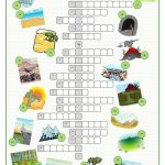 Landscapes Crossword Puzzle Worksheet – Free Esl Printable | Free Printable Landform Worksheets