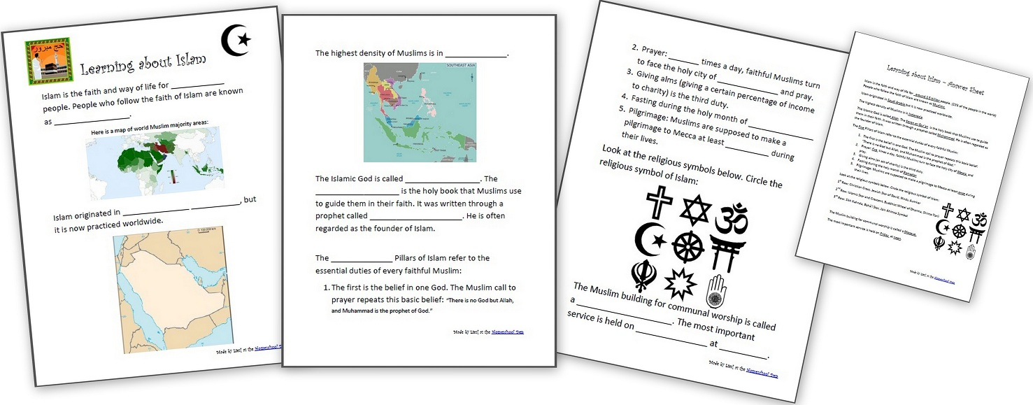 Learning About Islam - Free Worksheets And Resources For Kids | Free Printable Worksheets On Africa