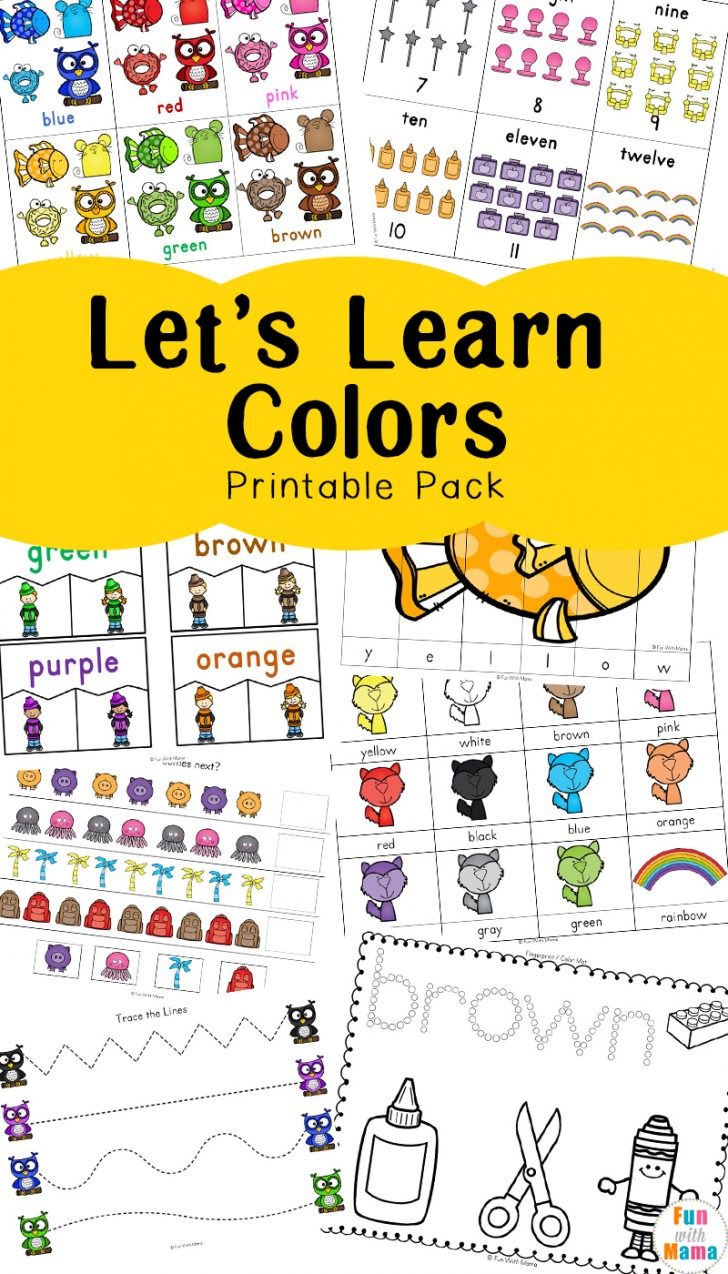 Learning Colors Printable Worksheets