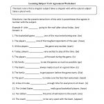 Learning Subject Verb Agreement Worksheet | Language Arts | Subject | Free Printable Subject Verb Agreement Worksheets