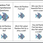 Let's Talk!: The Rainbow Fish (Page 2) | Activites Based On Books | Rainbow Fish Printable Worksheets