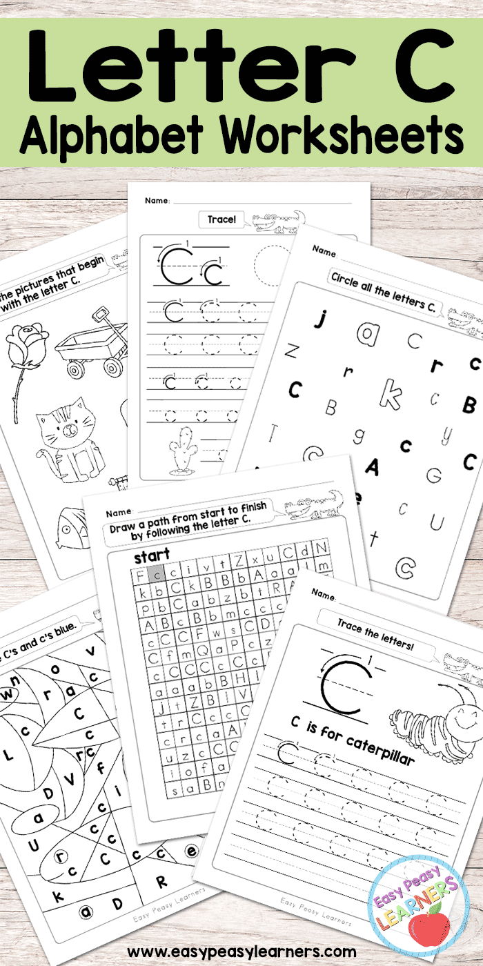 Letter C Worksheets - Alphabet Series - Easy Peasy Learners | Free Printable Letter C Worksheets