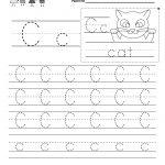 Letter C Writing Practice Worksheet   Free Kindergarten English | Letter C Printable Worksheets