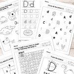 Letter D Worksheets   Alphabet Series   Easy Peasy Learners | Printable Letter Worksheets