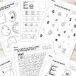 Letter E Worksheets   Alphabet Series   Easy Peasy Learners | Letter E Printable Worksheets