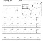 Letter E Writing Practice Worksheet   Free Kindergarten English | Letter E Free Printable Worksheets